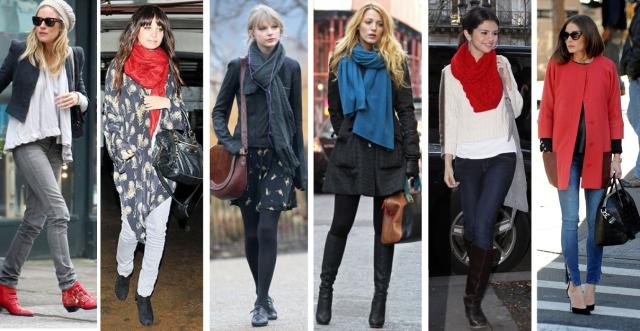 Celeb winter style