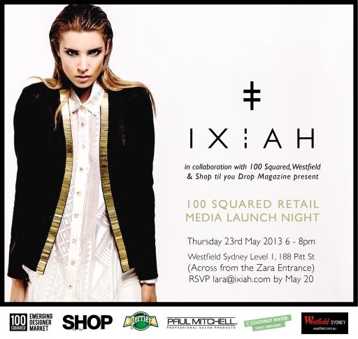 IXIAH Launch Invitation